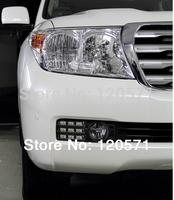 Best selling LED daytime running light DRL for Toyota Land Cruiser 200 fog lamp Free shipping