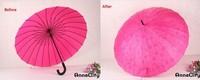 Free Shipping Top Quality 24k Fashion Long Handle Straight Sun Umbrella Manual Change Pattern Umbrella