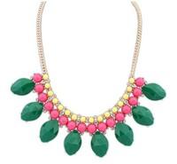 2014 New Fashion Jewelry Women Bohemian Necklaces & Pendants Gold Gems Rhinestone Long Chain Necklace Free Shipping