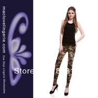 Free Shipping Hot Sale Stretch ML7639 Camouflage Army Green Leggings Military Soft Leggings For Women