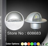 Wholesale! Outdoor Half Round LED Step Light Set:24pcs 0.4W lights&6pcs Connection Cable&2pcs 30W Transformer&12pcs 2M Extension