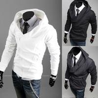 New 2014 fashion designer jackets for men casual slim fit hooded sweater men's hoodies jacket coat