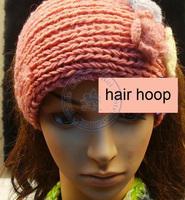 knited three flower kerchief Hairband tie hair hoop tools Maker forehead hair decoration head band  CN post