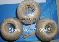 5*1mm*122m waxed hemp rope hemp cord natural free shipping high quality packing bondage photo hanging 122m/roll NEW