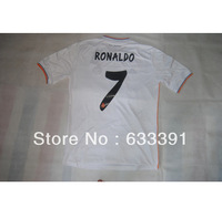 14 season thailand quality real madrid white home 7#RONALDO