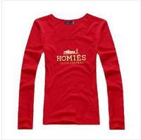 2014 new women's famous brand long sleeve homies golden letter t-shirt 1469