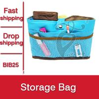 1pcs New 2015 Women Cosmetic Bags Makeup Travel Bags Organizer Solid Hasp Storage Bag Make Up Case Bag In Bag -- BIB25 PT05 ST