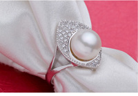 Natural Freshwater Pearls Women High Class Decor Elegent Luxury Ring Decorations Korean Style New Design Fashion Brief Jewelry