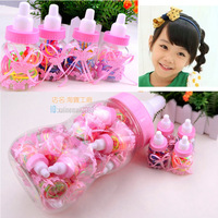 Disposable child rubber band bottle piggy bank set hair rope headband