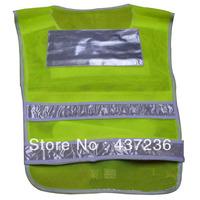 Who SZ  2X Grass Green Transportation Grid Mesh Vest Reflective Vest Warning Safety Vest Z0192