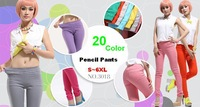 2014 New Arrival Female Sexy Candy Color Pencil Pants plus size Maximum Slim Fit Skinny Jeans Trousers S~6XL Free Shipping