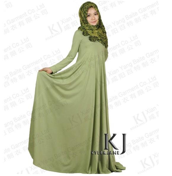 Long Dresses Muslim Women Wear 2014 Fashion Muslim Dress Long