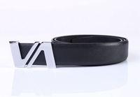 Fashion Double-V Buckle Genuine Leather Belt Waistband (8 colours)