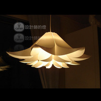 Free Shipping! Flat Flower White Plastic Lotus Creative Pendant Lamp Shade Living Room Dinning Room Decorative Light Chandelier