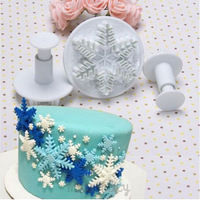 Free Shipping Snowflower cake mold ABS baking tools kitchen accessories decorations for cakes Fondant 670565