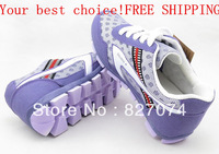 Free shipping china famous brand double star Women Breathable light casual sport running shoes 100% quality goods