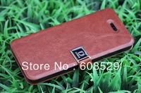 New Fashion D Buckle Crazy Horse Pattern Ultra-Thin Leather Case For Apple iPhone 4S 4 & iphone 5 5S, MOQ 1PCS  Free Shipping