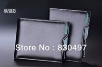 Free shipping! High quality Men's Fashion vintage genuine leather short wallet male wallets man purse with removable card holder