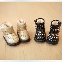 2013 winter baby child baby shoes children shoes rivet plus velvet warm shoes snow boots