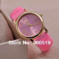 JW066 Wholesales 18pcs/lot Fashion Casual Lady Watches Candy Colors Jelly Wristwatches Women Dress Clocks Quartz Hours