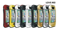 Love Mei 1 pc/lot Metal Dirtproof,Shockproof,Waterproof Case for iPhone 4 4s,Waterproof Cover for iPhone 4 4s With Gorilla Glass