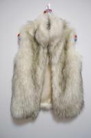 Wholesale Fashion Faux Fur Grey Outerwear Fur Vests FPC065