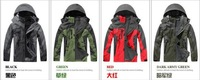Free shipping 2014 Winter New Fashion Waterproof 2in1 Men's Climbing Sport Coat Windproof Jacket Brand Outdoor Ski Suit