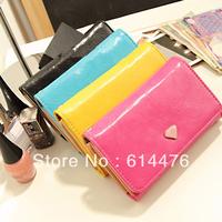 Free shipping 100PCS/LOT Women Envelope Purse Clutch Bag Coin Card Phone Holders Wallet Short Case Wristband handbags 4 colors