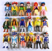 2014 NEW Hot Playmobil Figures Knights People Horses Native American Random Toys For Kid Baby Toy,7.5cm 20pcs/lot