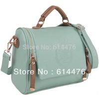 Free shipping 100PCS/LOT New Women's Classic UK Crown Bags PU Leather Handbag Cross Body Shoulder Bags
