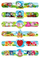 random 20pcs/lot New fashion Magic Ruler Slap Bracelets cute cartoon boy's and girl's pat circle