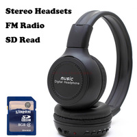 SD Support FM Radio Stereo Earpieces / Headsets / Headphone for Computer Mobile with Microphone + 8GB SD Card, Free Shipping