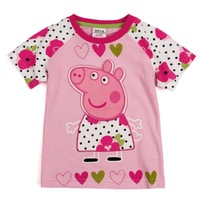 Retail ! K4045# Novababy wear summer t shirts baby clothing  cartoon peppa pig printed,baby cutegirls t shirts