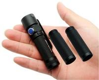 Free Shipping!Olight S15 Baton XM-L2 280 Lumen LED Flashlight Torch MagnetTail +Two Extended Tubes