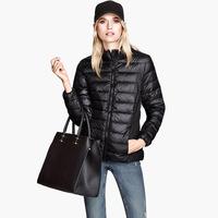 High quality lightmindedness slim down coat stand collar zipper skirt-pocket elastic cuff 6 haoduoyi