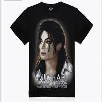 Size S M L XL XXL 2014 New Summer Mens Character 3D Fashion Michael Jackson Printed 100% Cotton T-shirts Free Shipping 3D014