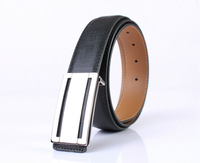 Mens Fashion Smooth Buckle Genuine Leather Belt (4 Colours)