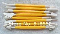 50 sets Yellow/Pink DIY Cake Decorating Sugarcraft Modelling Tools Kit Fondant Modelling H124