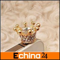 10Pcs/lot Hot Sale Dust Plug For 3.5mm Headphones Cute Crown Cell phone Dust Plug Dustproof Plug for IPhone Free Shipping