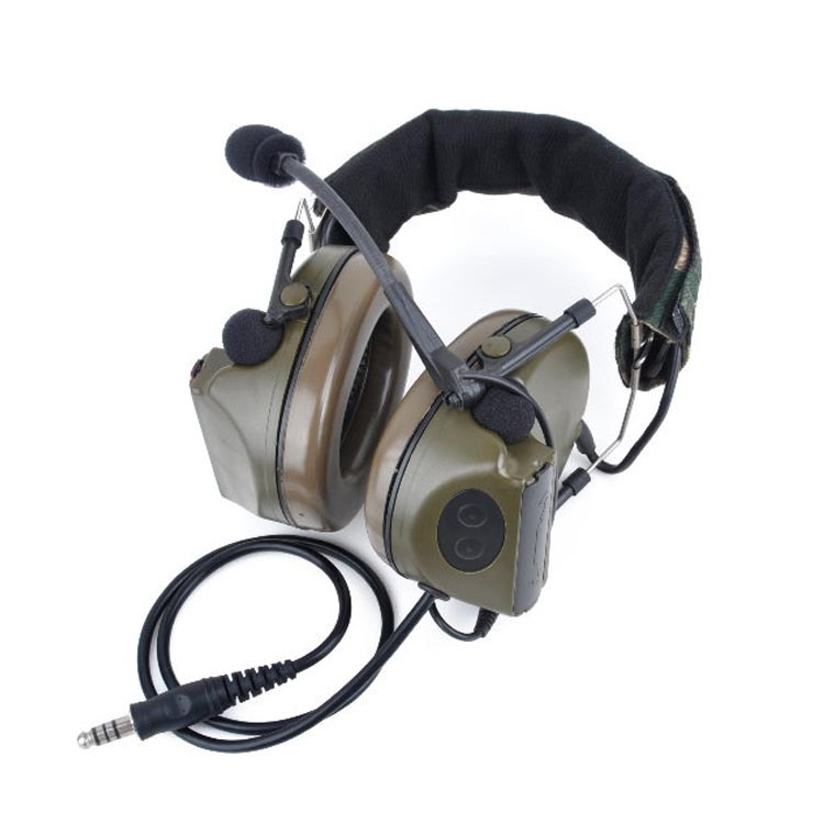 ZComtac II Combat Helmet Headset Z041 Noise canceling Standard Plug Fits PASGT, MICH & ACH helmet systems(China (Mainland))