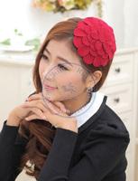 big flower princess Hairband tie hair hoop tools Maker forehead hair decoration head band CN post