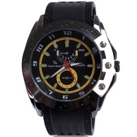 Japan movement quartz military rubber men watch 2013 fashion round hours analog wristwatches hot sale free shipping