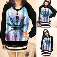 HP-03 Sleeve long-sleeve Female sweatshirt t-shirt Sportswear Somen Sweatshirt harajuku shirt sweatshirt Hip hop sports