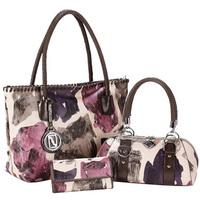 Fashion hot-selling 2014 women's handbag large vintage print one shoulder handbag 3 bags include #3033