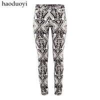 Free shipping Print elastic slanting stripe fabric trousers tight zipper haoduoyi  Wholesale and retail