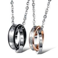 Romantic FOREVER LOVE Couple Pendant Top Quality 316L Stainless Steel Necklace Men Jewelry Women Necklace Pendant Wholesale 866