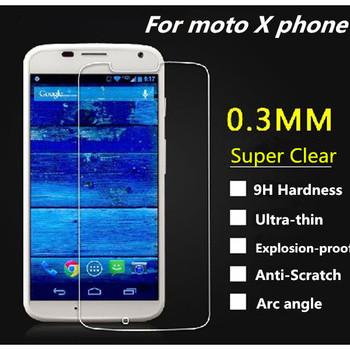 2pcs/lot For Moto X Anti Shatter Film Premium Tempered Glass Screen Protector Guard for Motorola Moto X Phone, Free Shipping