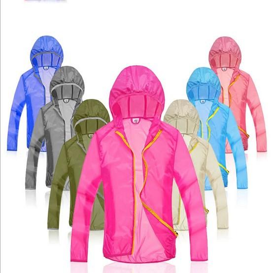 100% Chinlon Wind tour Men's and Women's Ultra-thin Windproof UV Protection Outdoors Protect Skin Wind Coat Rain Coat(China (Mainland))