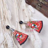 Free shipping National trend accessories yunnan national accessories handmade unique needles national earrings s008