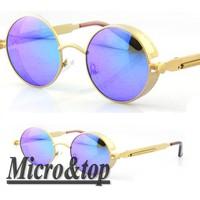 New 2014 Free Shipping Designer Inspired Punk Steampunk Claasic Vintage Retro Round Sunglasses , Polarized Sunglasses